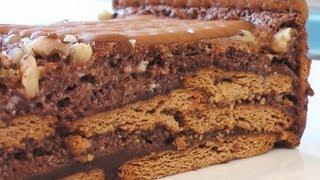 Торт из печенья видео рецепт. Книга о вкусной и здоровой пище(Сайт проекта:http://www.videocooking.ru Приготовлено по рецепту из