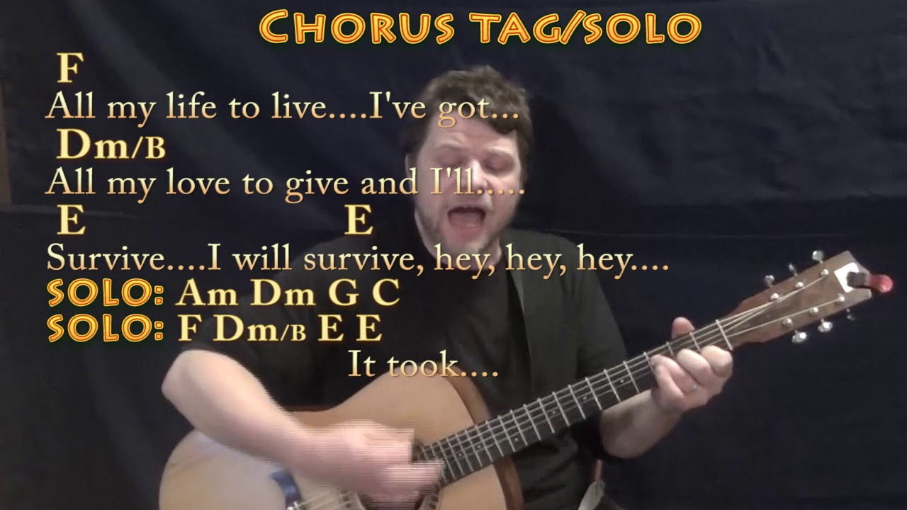 I Will Survive Gloria Gaynor Guitar Cover Lesson With Chords Lyrics Munson Youtube