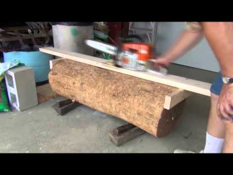 How To Cut Lumber With A Chainsaw Hand Without Mill