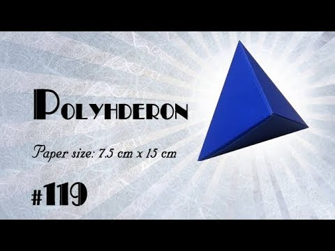 Origami Polyhedron Tutorial (How to make)