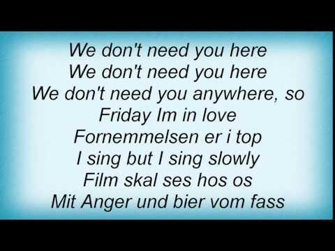 Need you here lyrics