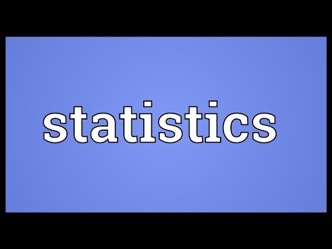 Statistics Meaning