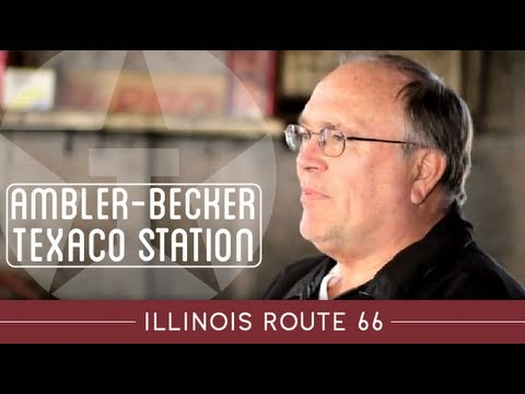 Illinois Route 66 Attractions; Ambler-Becker Texaco Station, Dwight