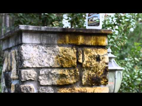 Drop Off Vinyl Siding Cleaner Black Mold On Stone Columns