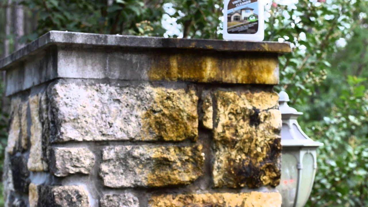 Drop Off Vinyl Siding Cleaner Black Mold On Stone Columns
