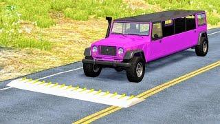 Spike Strip High Speed Crashes #20 – BeamNG Drive