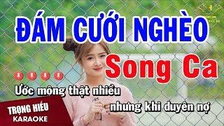 Karaoke Đám Cưới Nghèo Song Ca Nhạc Sống | Trọng Hiếu