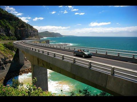 Virtual Treadmill Walk - Sea Cliff Bridge, NSW Australia (With Sound)