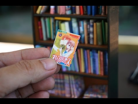 DIY Miniature book and Manga Easy Tutorial - Nendoroid, Dolls and Action Figures