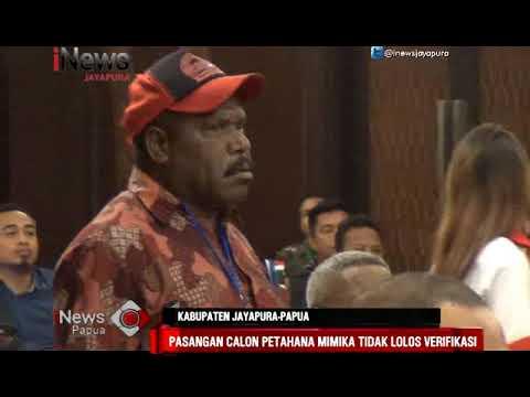I NEWS PAPUA - DIDUGA IJAZAH PALSU PASANGAN CALN PETAHANA PILKADA MIMIKA TAK LOLOS VERIFIKASI