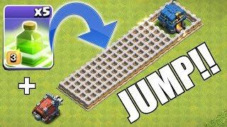 "JUMP OR DIE WRECKER!! ""Clash Of Clans"" Wall wrecker & jump spells!"