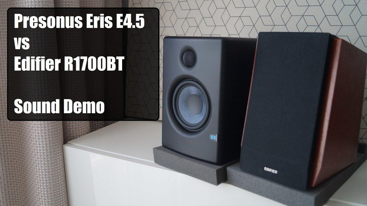 edifier r1700bt vs presonus eris e4 5 sound demo youtube. Black Bedroom Furniture Sets. Home Design Ideas