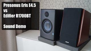 Edifier R1700BT vs Presonus Eris E4.5      Sound Demo