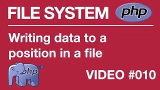 Lesson 10 - PHP - File Systems - fopen function, Writing Data to a certain position existing file