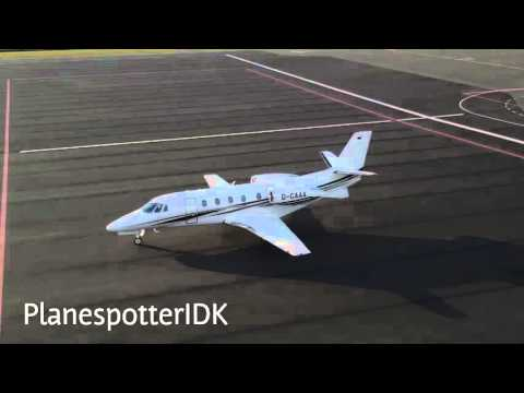 Prive Plane | Cessna 560XLS | D-CAAA | Takeoff Eindhoven Airport
