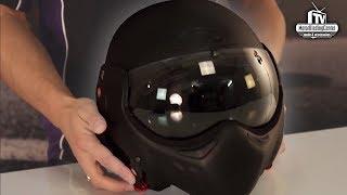 Roof Boxer V8 Full Black Motorhelm Review - MotorKledingCenterTV