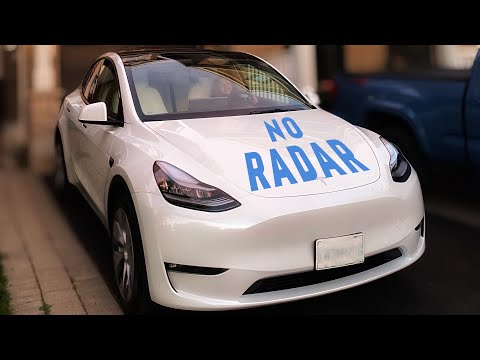 Trying out Autopilot with a NO RADAR 2021 Tesla Model Y on city streets.