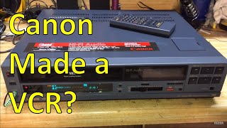 Canon VHS VCR from the mid 1980s
