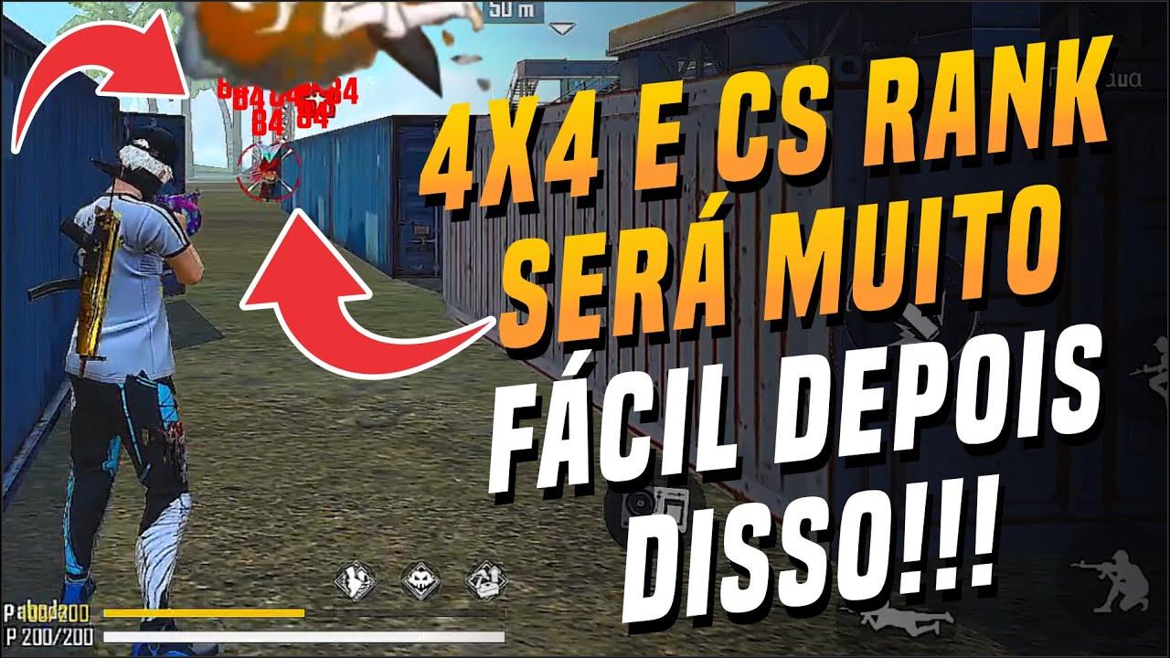 5 DICAS DE COMO SER O MELHOR NO CS RANK E NO 4X4 NO FREE FIRE !!