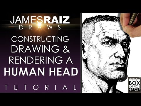 HOW TO CONSTRUCT, DRAW AND RENDER A HUMAN HEAD