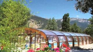 Camping du Lac bleu - DROME.wmv
