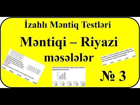 Məntiq Testləri Məntiqi Riyazi Məsələlər 3 Youtube