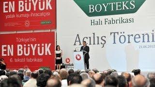 Cumhurbaşkanı Gül, Hacı Boydak a ait halı fabrikasının açılışında konuştu-21.06.2012