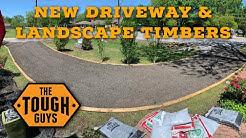 New Driveway & Landscape Timbers