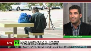 Being homeless soon a crime in Miami?