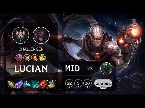 Lucian Mid vs Pyke - NA Challenger Patch 10.8