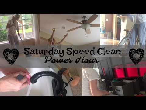 Saturday Speed Clean Power Hour | Nap Time Edition of a Stay At Home Mom of Three
