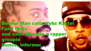 Beenie Man diss Vybz Kartel and Movado again.