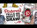 NO CONTROL! | Pinterest Tells Me What To Draw Game | Art Challenge