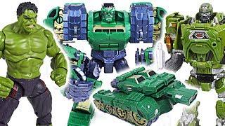 Thanos, villains are angry! Marvel Hulk tank, Iron Man plane transformers combine! - DuDuPopTOY