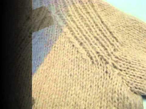 Abrigo tejido a dos agujas - YouTube