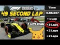 49 SECOND LAP AT MONZA! LAPPING THE GRID TWICE IN A RACE! | F1 2019 Game Experiment