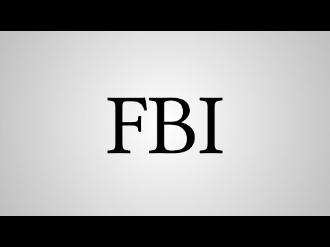"""What Does """"FBI"""" Stand For?"""