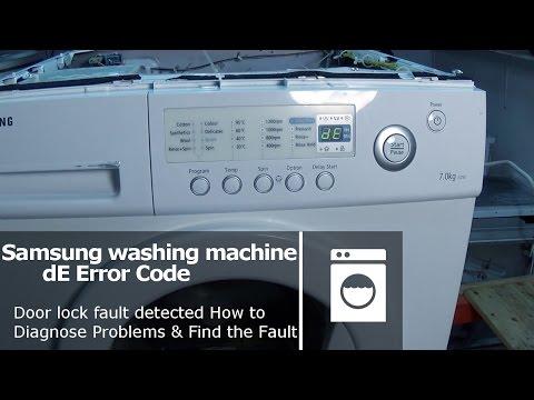 Samsung washing machine DE error code Door lock fault