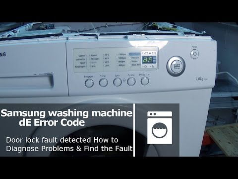 Samsung washing machine DE error code Door lock fault