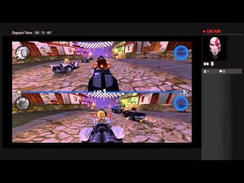 Beach Buggy Racing (PS4) Split Screen gameplay