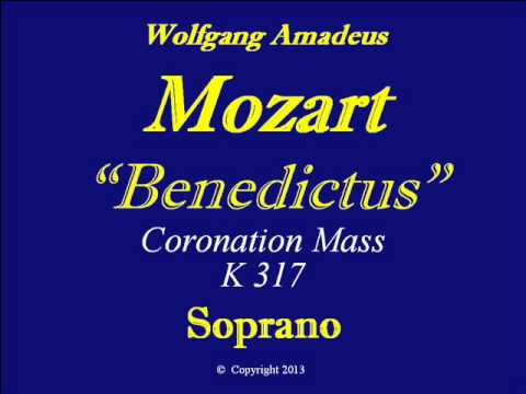Soprano-Mozart-KV317-Benedictus