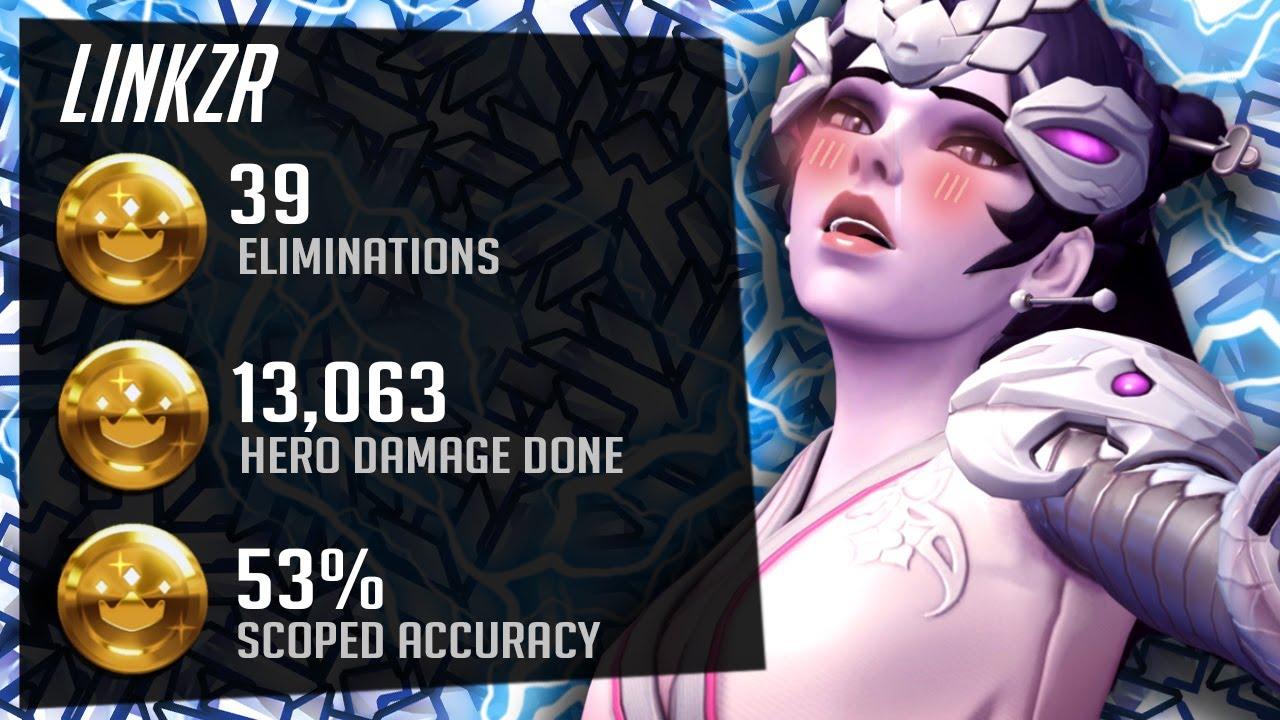 LiNkzr Pro Widow gameplay - 39 elims! [ Overwatch Season 26 Top 500 ]