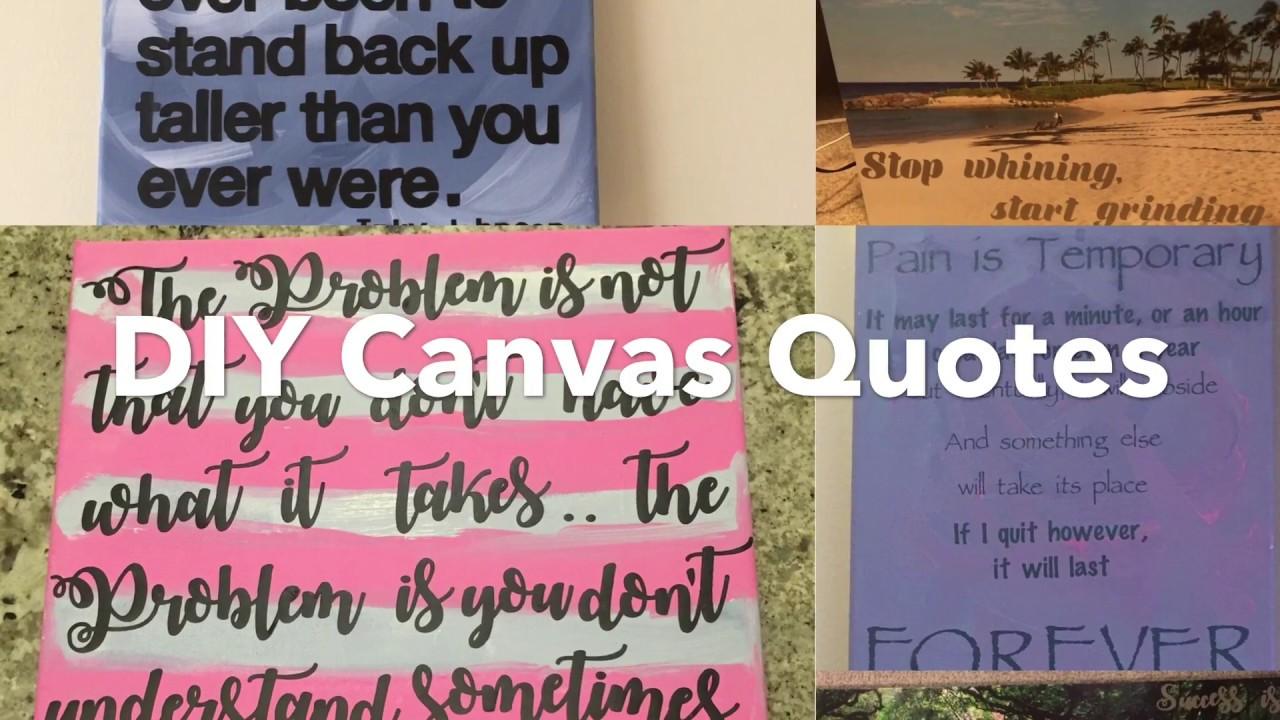 DIY Canvas Quotes - Mom MD Hawaii