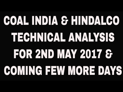 COAL INDIA & HINDALCO TECHNICAL ANALYSIS FOR 2ND MAY 2017 & COMING FEW MORE DAYS
