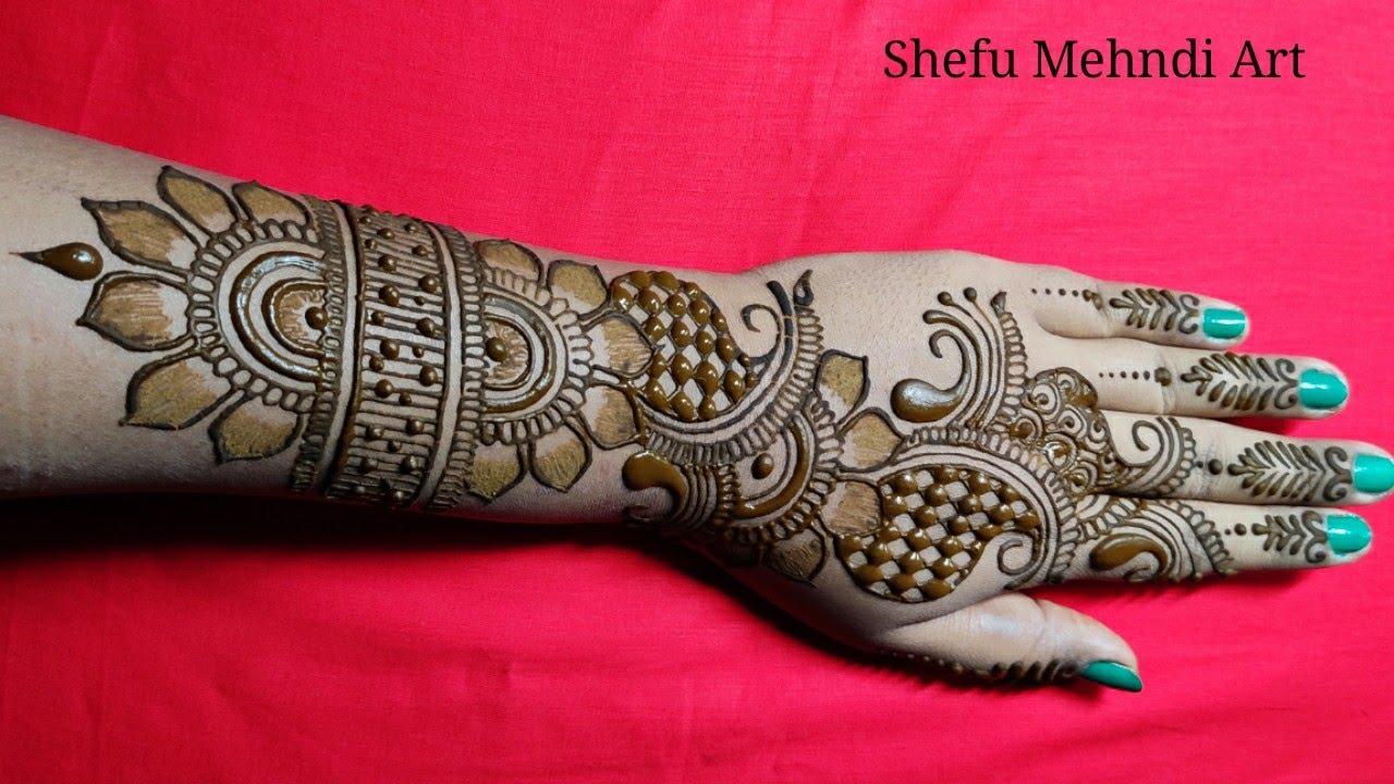 dulhan mehndi design back hand