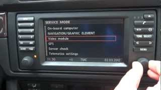 BMW 5 Series E39, 16:9 Screen, MK3 - How to Access the Navigation Service Menu!