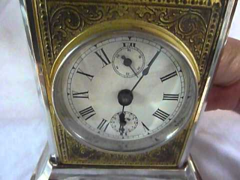 Antique musical carriage clock