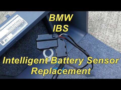 BMW IBS Intelligent Battery Sensor Replacement - YouTube