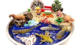 Learn Sea Animal Names For Kids. DIY Beach  Shark, Turtle, Fish, Crocodile, Ray, Playmobil