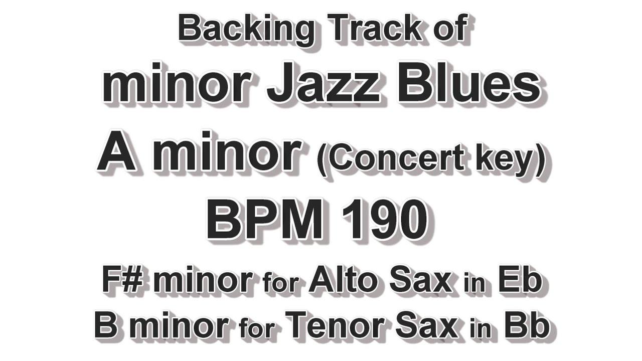 A minor Jazz Blues - BPM 190 - Backing Track